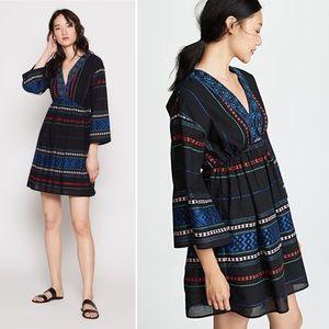 Joie | Shada Boho Embroidered Dress Black Small